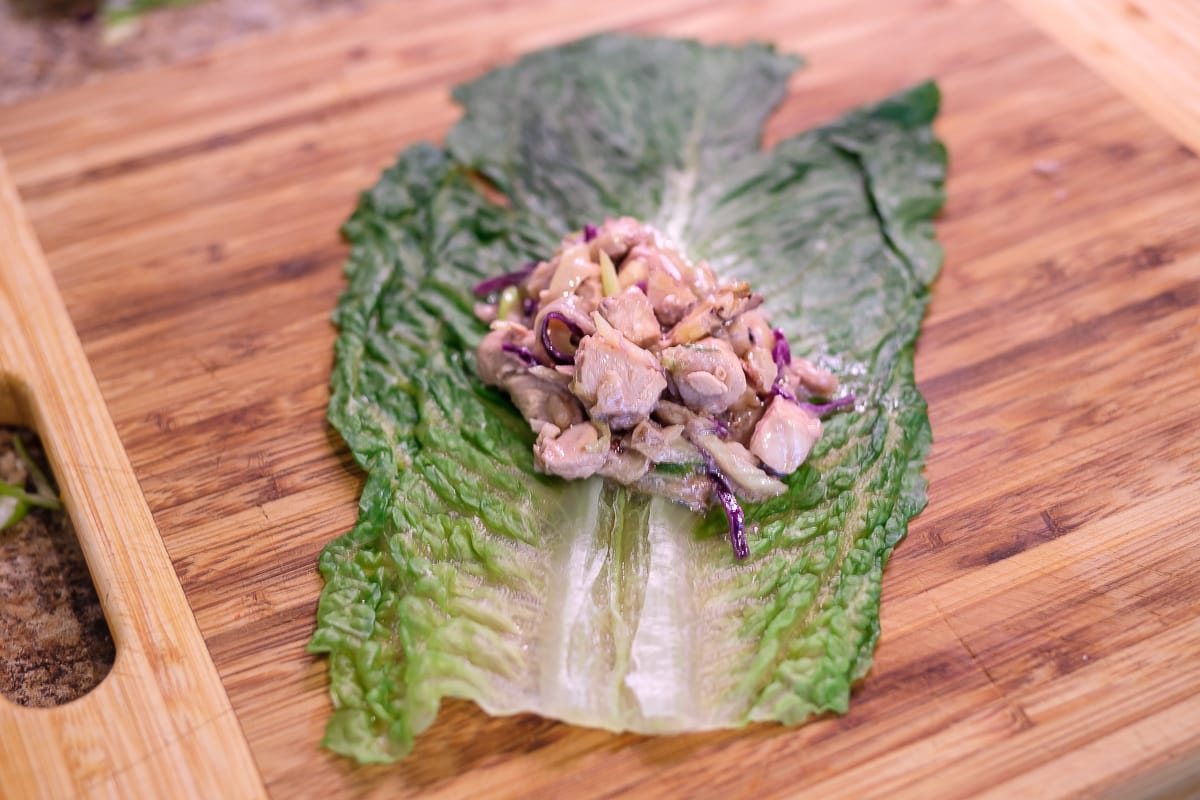 Asian Chicken Romain Wraps