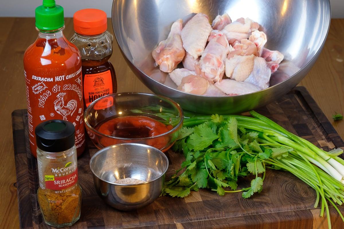Ultimate Baked Honey Sriracha Wings