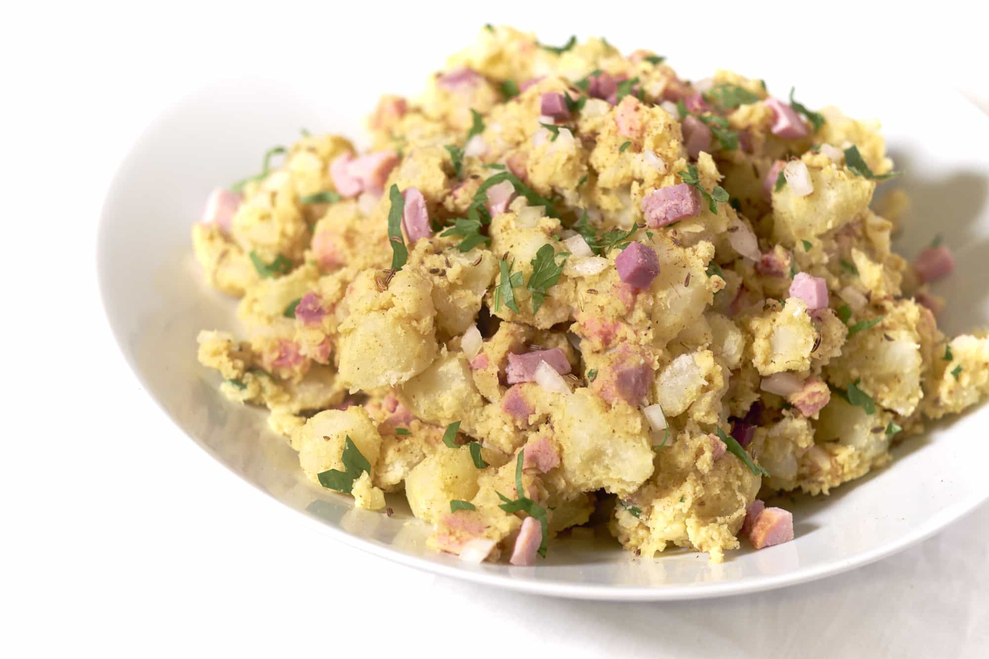 Ham Swiss Rye Potato Salad