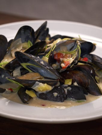Coconut Miso Mussels