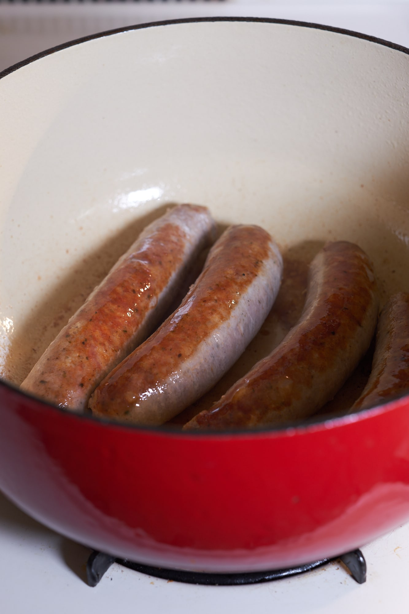 German Bratwurst, Cabbage, and Potato Stew