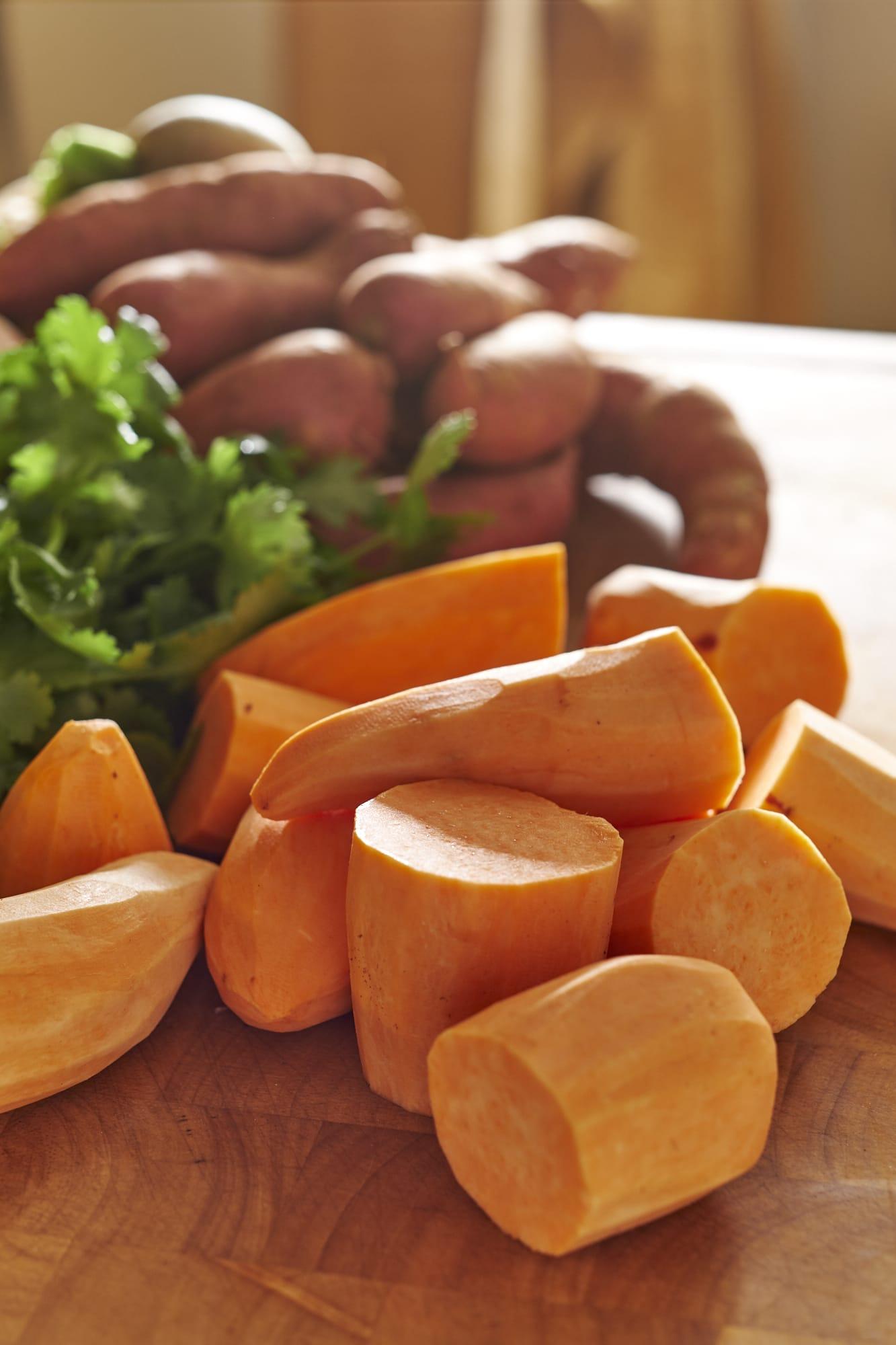 Sweet Potato Tots with Sriracha Sour Cream