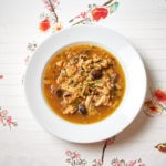 French Onion Chicken Rice Soup