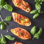 Tomato Cheese Crostini