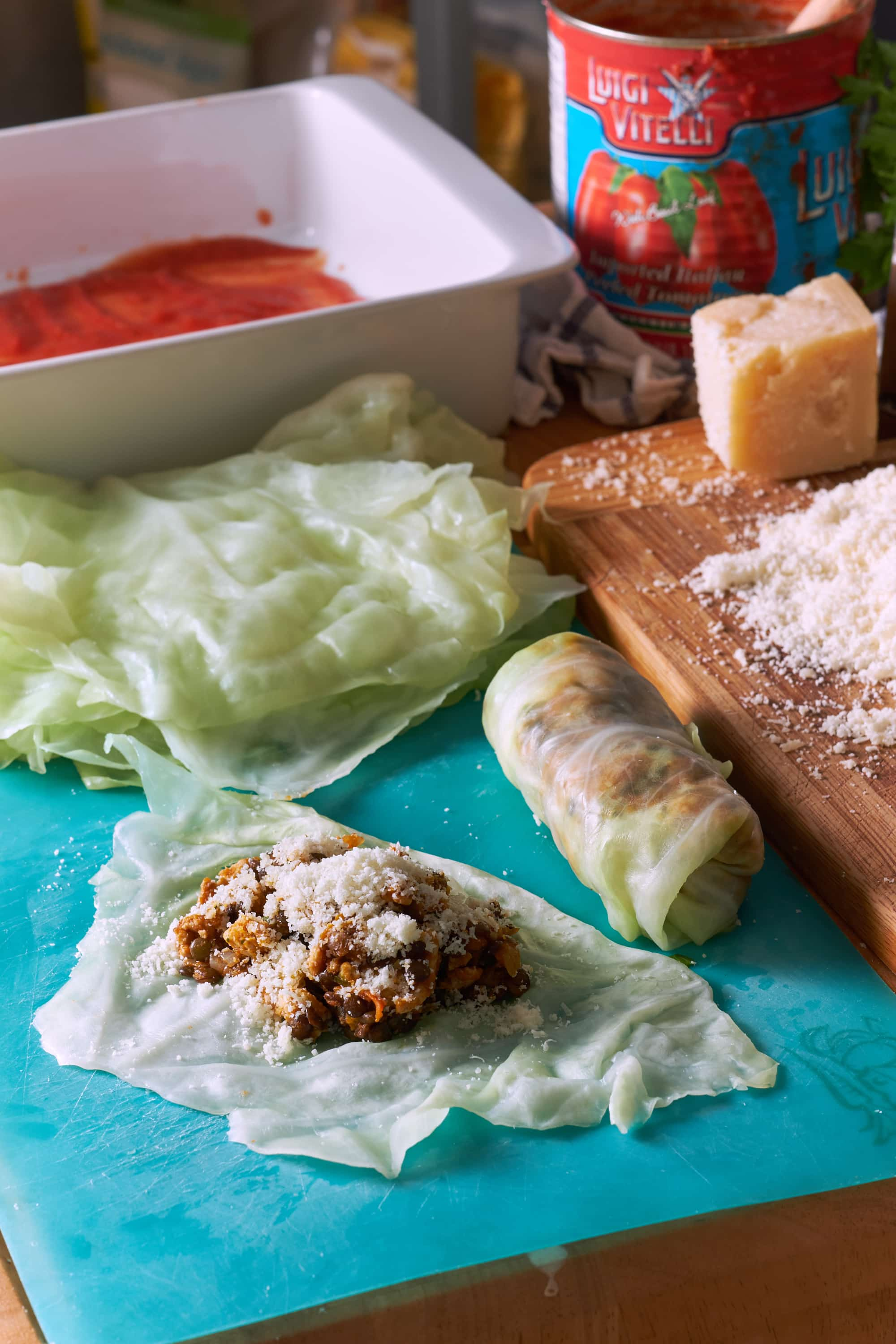 Turkey Lentil Cabbage Rolls