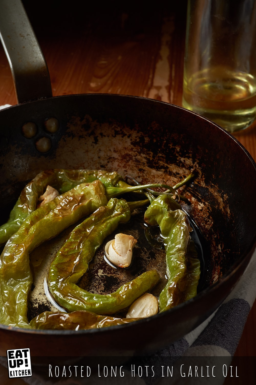 Roasted Long Hots in Garlic Oil
