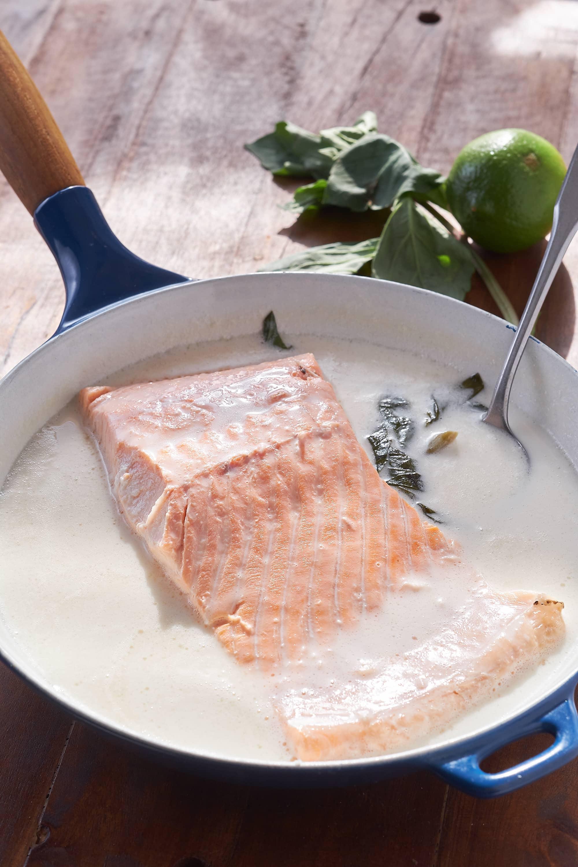 Salmon Poached in Coconut Milk