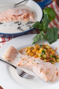 Salmon Poached in Coconut Milk
