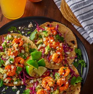 Sweet n Hot Shrimp Tacos