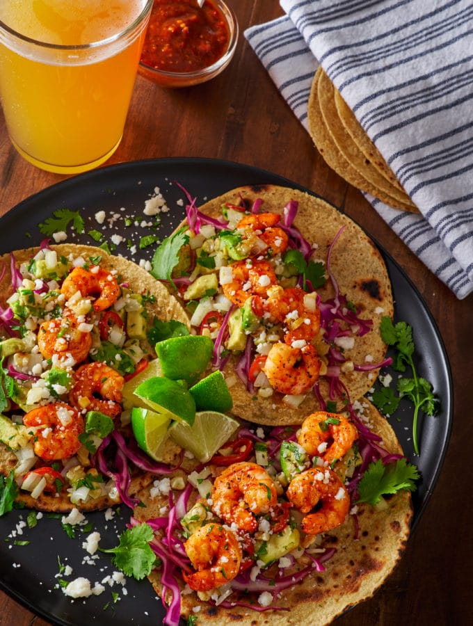 Sweet n Hot Shrimp Tacos