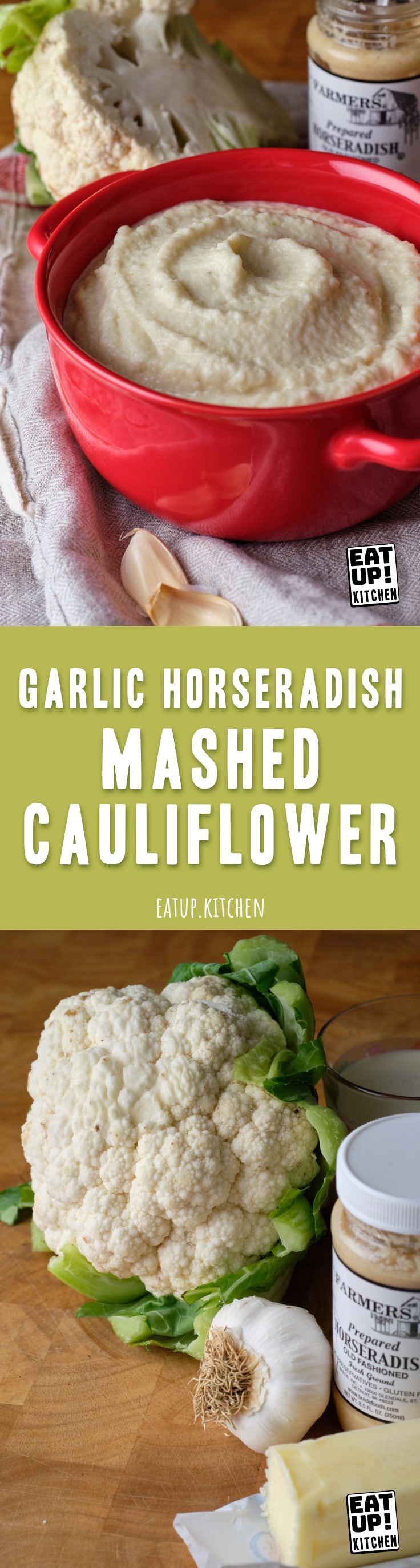 Garlic Horseradish Mashed Cauliflower