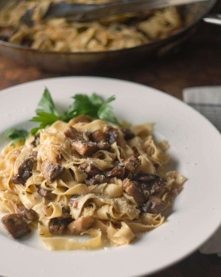 Homemade Pasta with Mushrooms