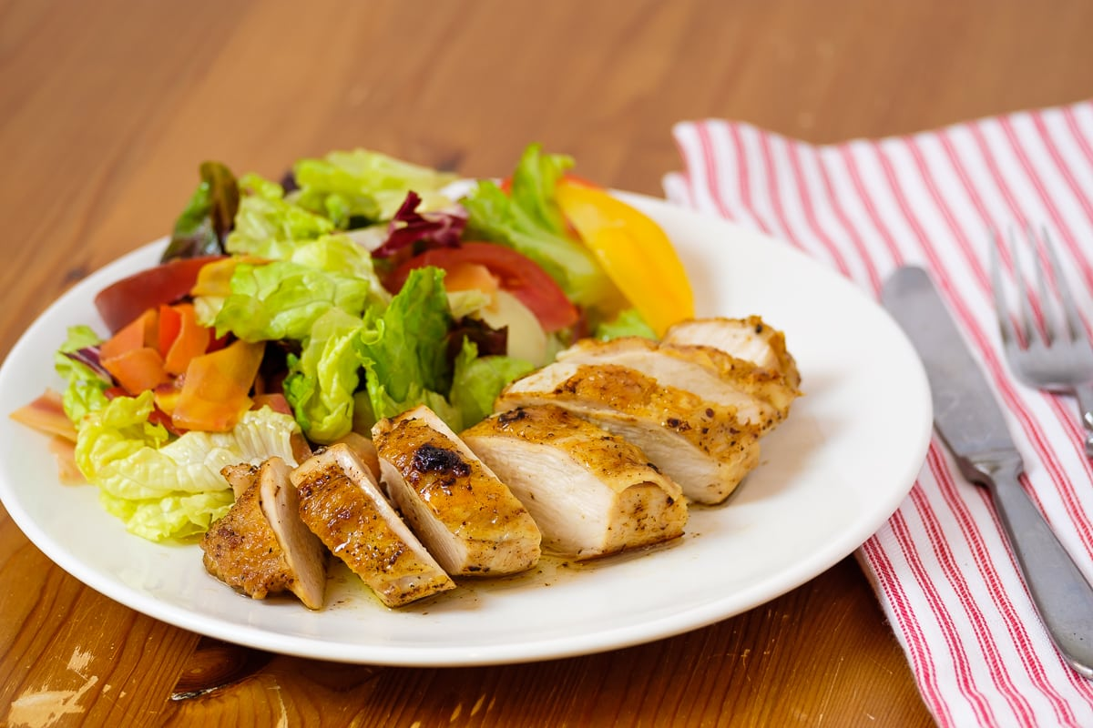 Perfectly juicy, flavorful chicken breast.
