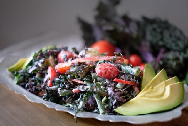 Kale and Green Bean Salad