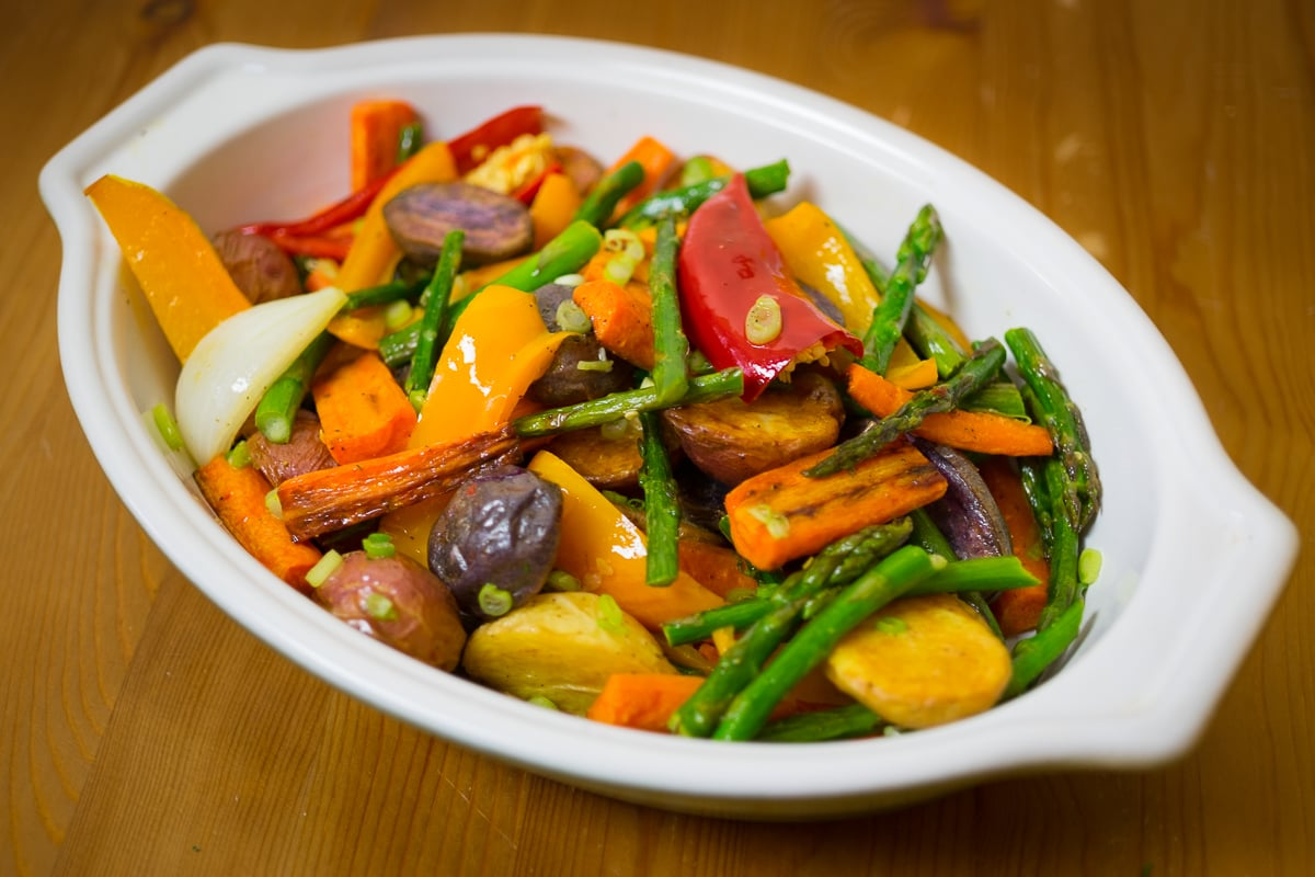 Sheet Pan Roasted Veggie Salad