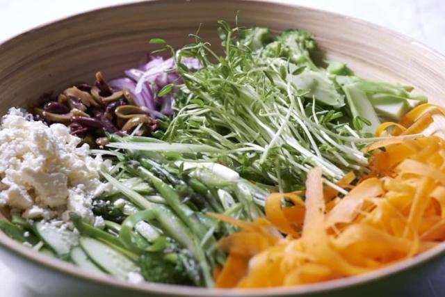 Shaved Vegetable Salad
