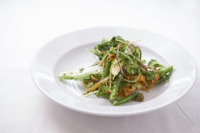 Shaved Vegetable Salad with Lemon and Tarragon Dressing