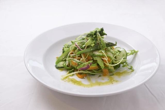 Shaved Vegetable Salad with Marjoram and Mint Dressing