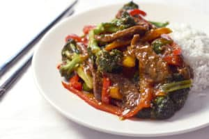 Flank Steak Stir Fry with Broccoli and Peppers