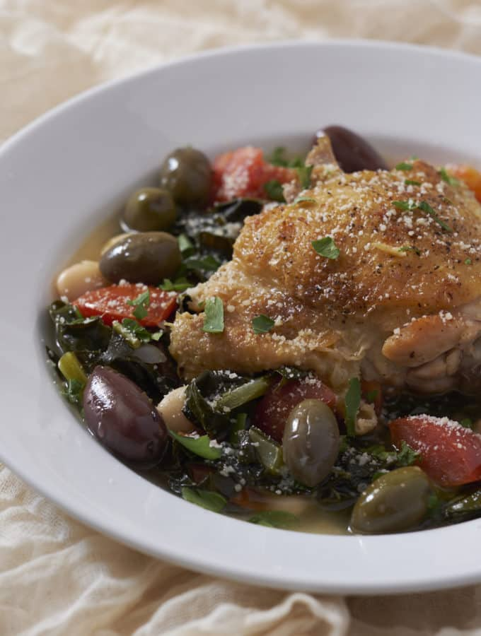 Tuscan Kale Soup with Chicken, Beans, and White Wine