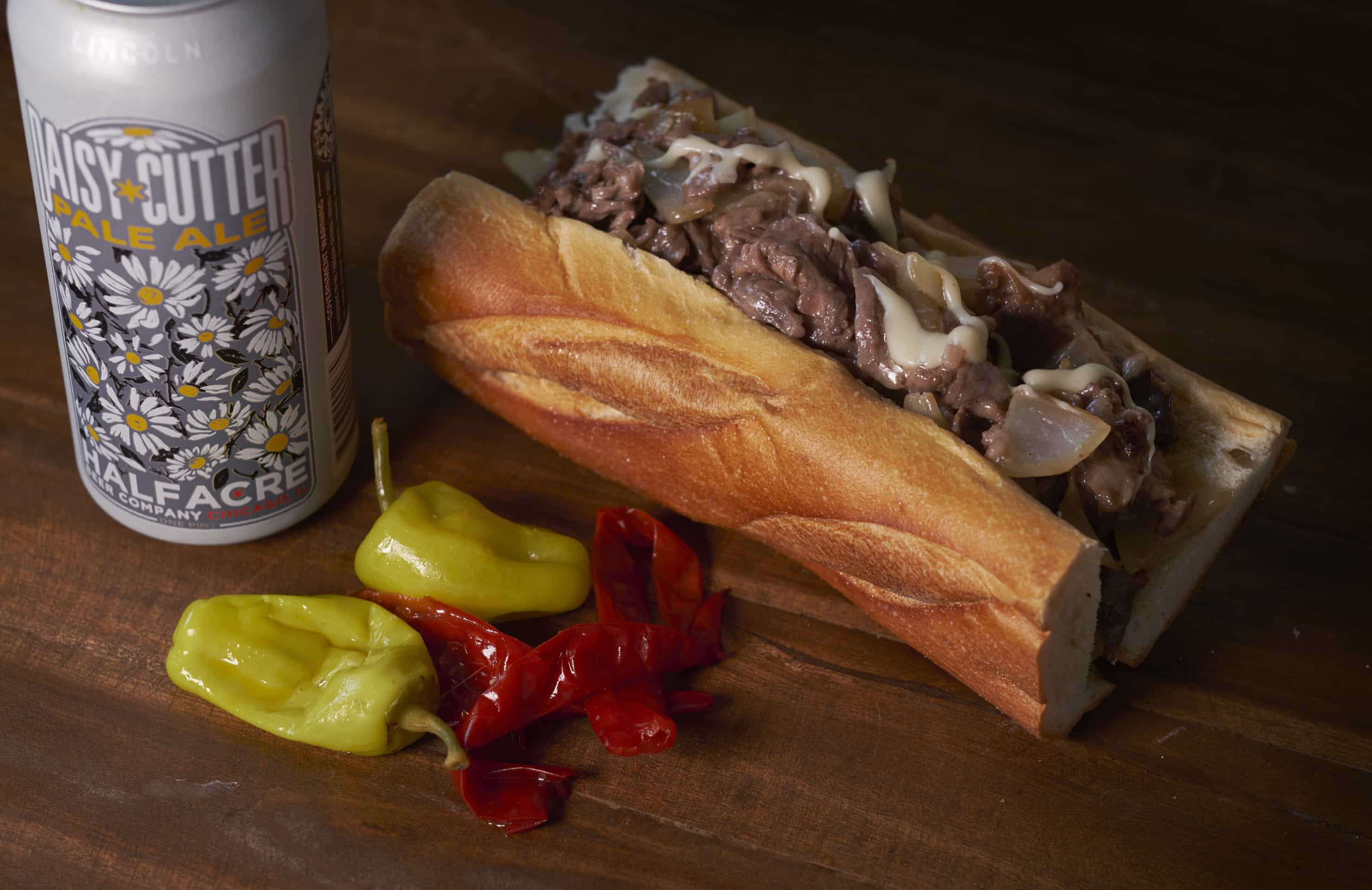 The Ultimate Cheesesteak Sandwich.