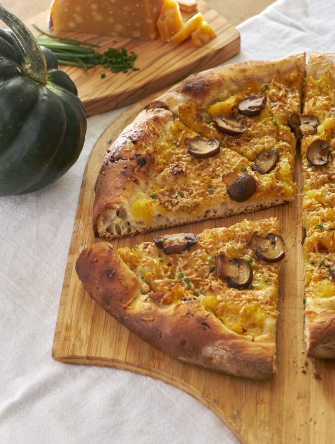 Acorn Squash and Smoked Gouda Pizza