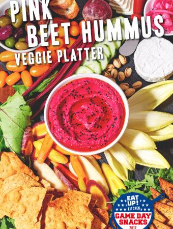 Beet Hummus Veggie Platter