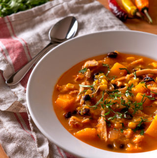 Southwest Butternut Squash Turkey Soup