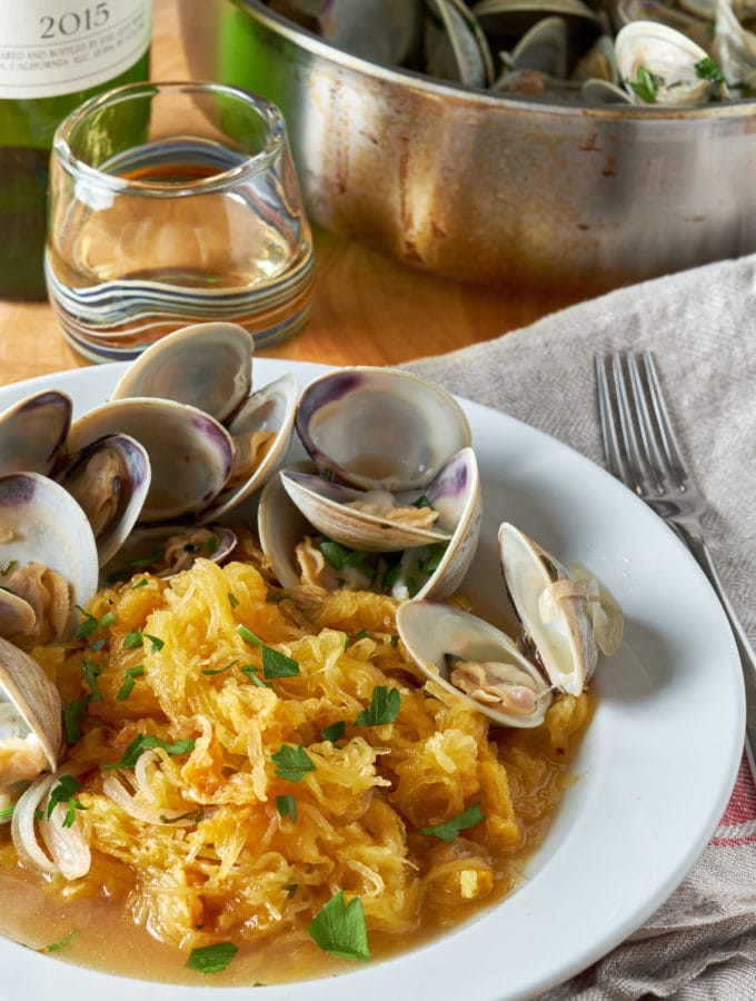 Spaghetti Squash with Clams