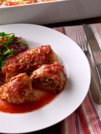 Turkey Lentil Stuffed Cabbage Rolls