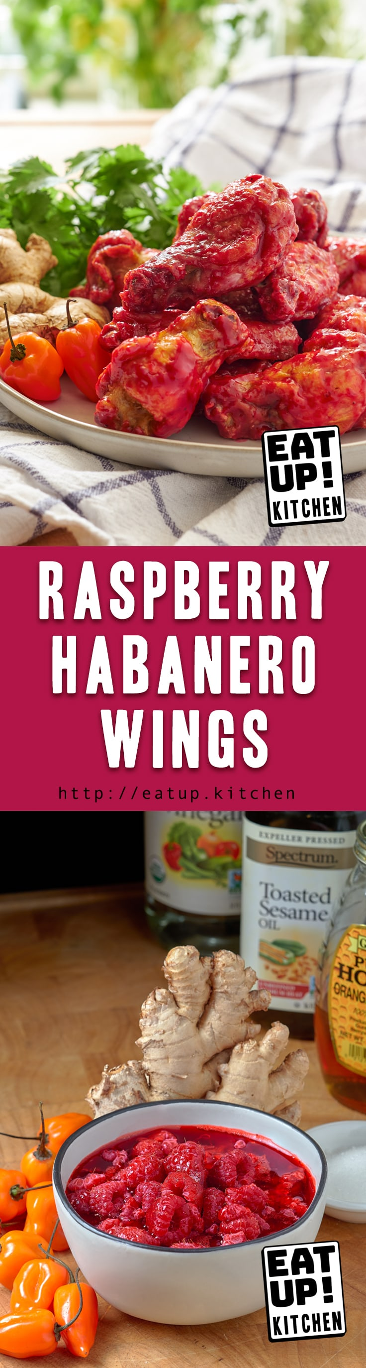 These Raspberry Habanero Wings are sweet, tart, spicy, heavenly, and addictive. I quickly threw this together with a bunch of left overs from other recipes. I'm thrilled to share the results with you!