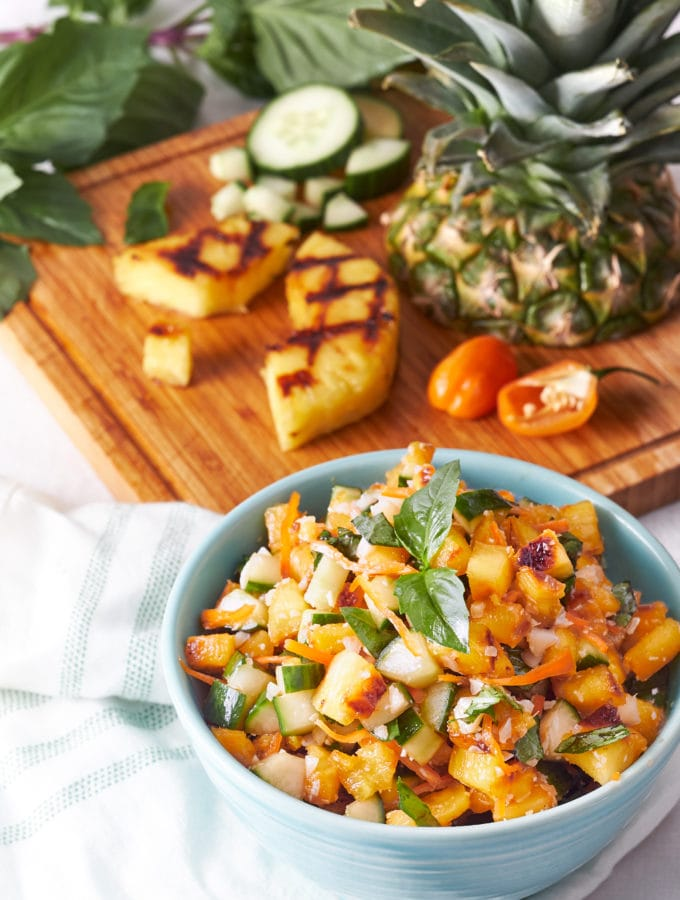 Polynesian Grilled Pineapple Salsa