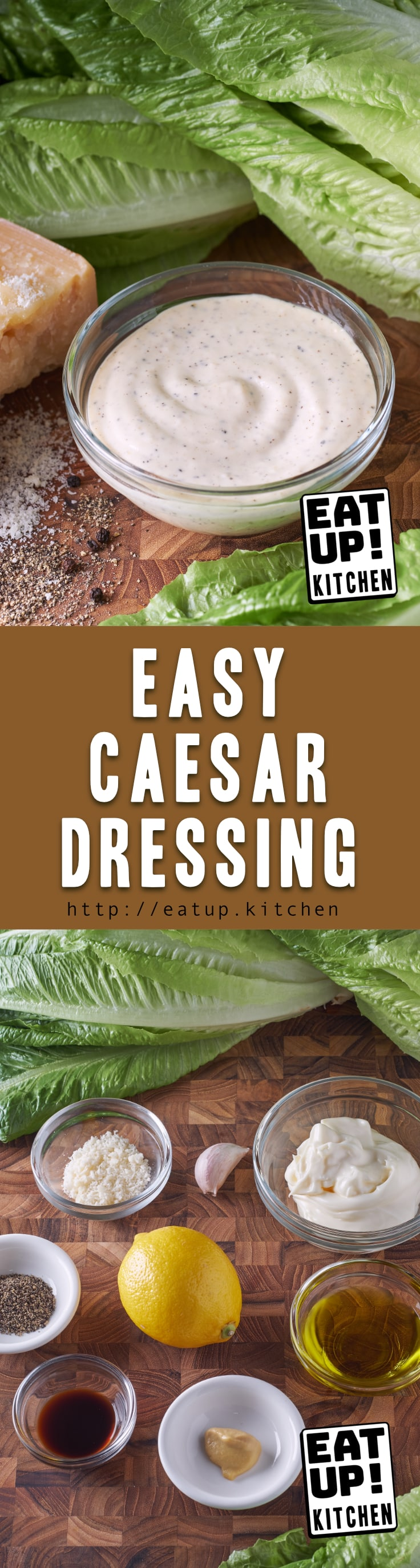 Using store bought mayonnaise makes for a super Easy Caesar Dressing. Plus you don't have to worry about anchovies and raw egg yolks. This comes together in 5-7 minutes with stuff you probably already have.