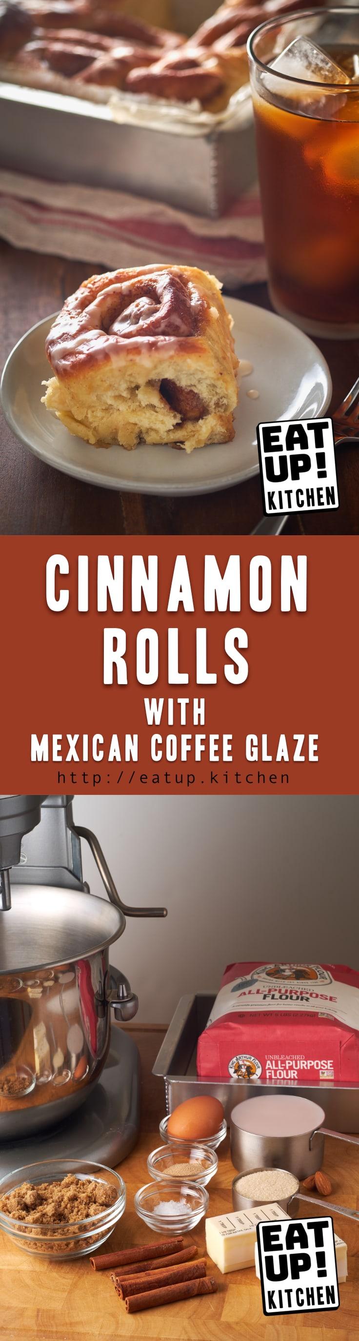 Cinnamon Rolls with Mexican Coffee Glaze