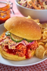 Pulled Pork Sandwich with Coleslaw